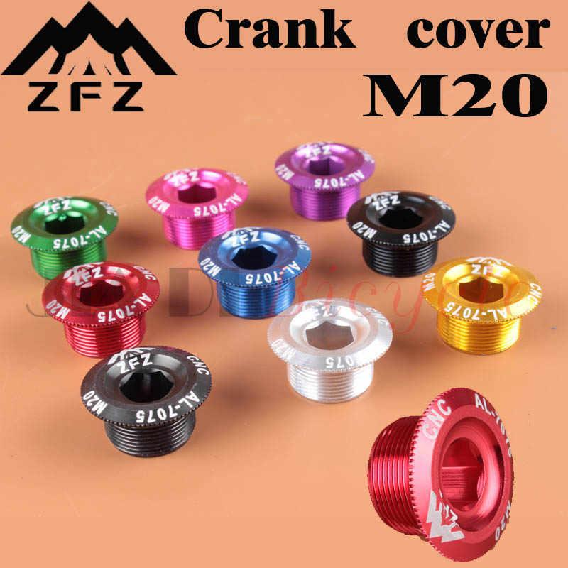 Crank สกรูฝาครอบหมวก M20 MTB Crankset Crank อลูมิเนียม BMX Road Bike Fitting 10 สี
