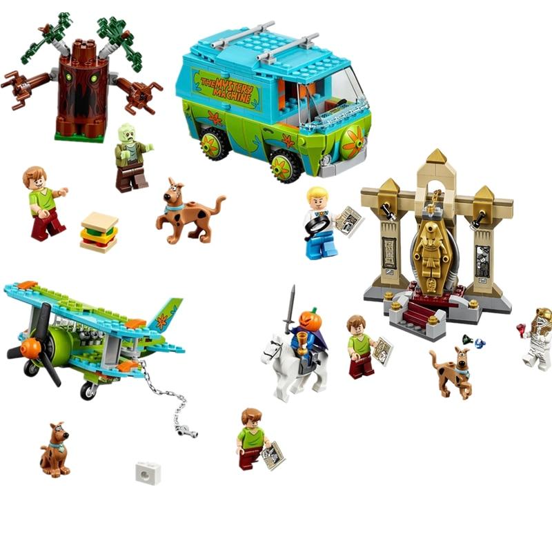 Scooby-Doo 10429 10430 10428 Mummy Museum Stery Building Block Model Kits Scooby Doo Dog Legoingly Blocks Toys for children bela 10429 scooby doo mummy museum mysterious plane minifigures building block minifigure toys best legoelieds toys