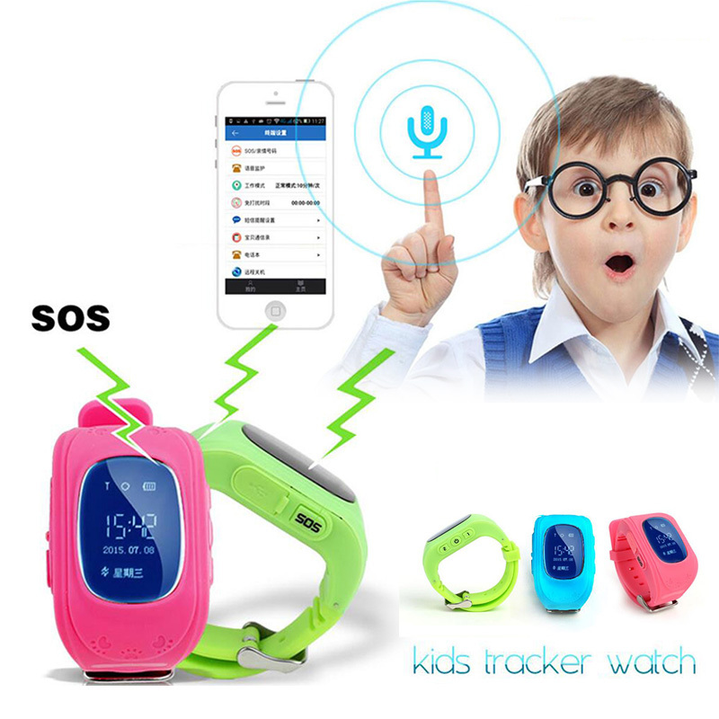 1pc Children Kid Child Smart Watch GSM GPRS GPS Locator Tracker Anti Lost Smart Wristwatches Guard
