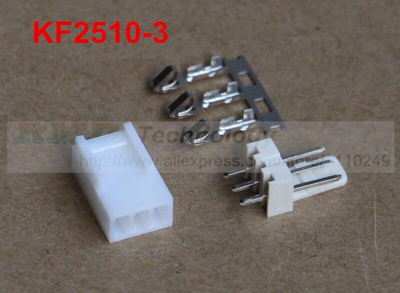 50set/lot KF2510 KF2510-3 connector 2.54mm 3pin free shipping