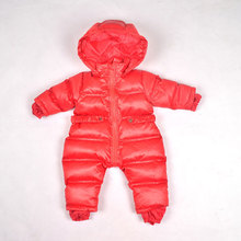 0-12Months/Newborn Clothes Winter Baby Rompers Warm Thickening Snowsuit Hooded Jumpsuits Brand Infant Boys Girls Clothing Romper