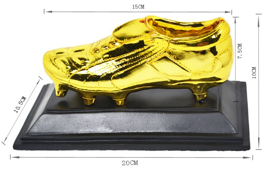 golden shoes ,Golden Boot Award ,Football souvenirs,soccer trophy,Lionel Messi,C Ronaldo,Neymar,Brazil World Cup with wood Resin soccer figurine football stars competition classic brazil cup world cup model toy action figure ornament dolls collectible gift