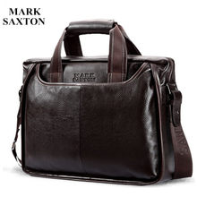 2019 New Fashion cowhide male commercial briefcase /Real Leather vintage men's messenger bag/casual Natural Cowskin Business bag(China)