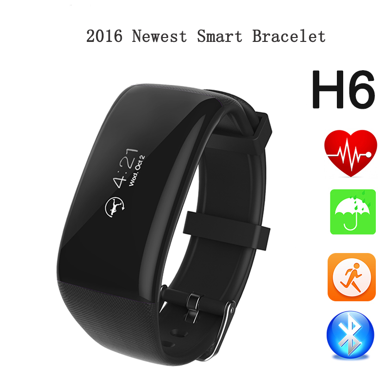 Betreasure Bluetooth H6 Smart Wristband Band Heart Rate Smartband Activity Tracker Fitness Smart Bracelet for IOS