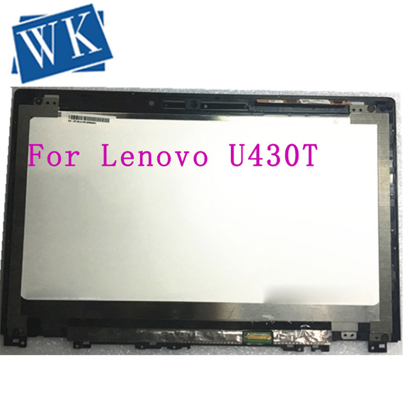 """Free shipping original with frame 14"""" LCD touch Screen Display assembly N140FGE-EA2 For Lenovo IdeaPad U430 1600*900"""