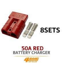 8pcs 50AMP 600V Red Battery Exterior Wire DC Power Solar Connector Caravan Kit