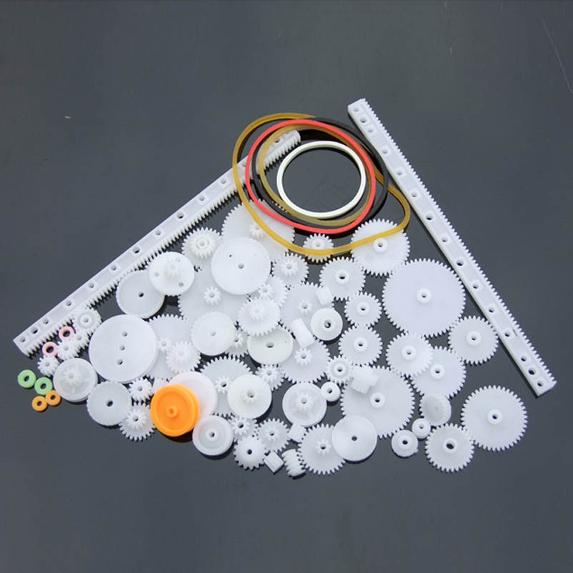 Nice Quality 75 Kinds of Gears Kits ABS Plastic  Motor Gearbox Robot Model DIY Accessories