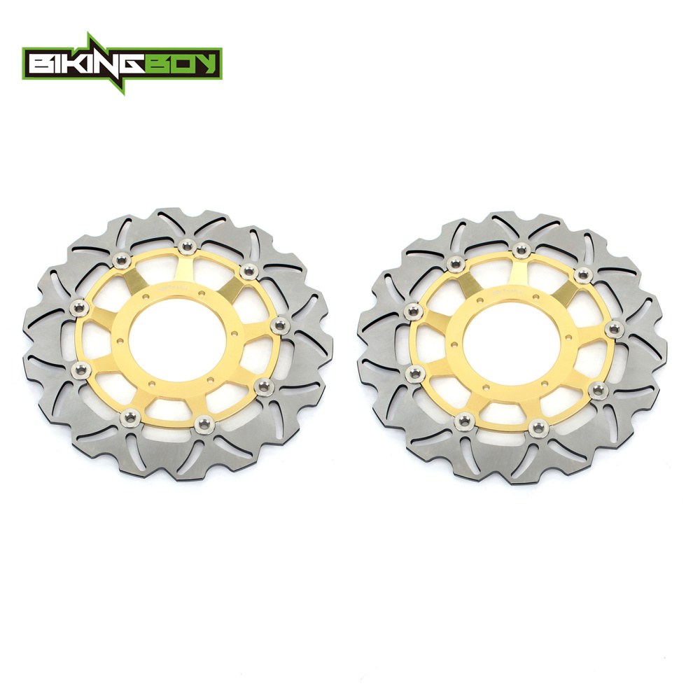 BIKINGBOY Front Brake Disc Rotor Wave Set For <font><b>Honda</b></font> CBR600F / ABS 2011 2012 2013 CB <font><b>600</b></font> F <font><b>Hornet</b></font> / ABS 2007 <font><b>2008</b></font> 2009 2010-2013 image