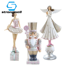 Beauty Angel Soldier Model Miniatures Creative Figurines Resin Crafts Desktop Home Decoration Accessories Borthday Gift Kids Toy free shipping sleeping beauty figure resin toy vivid lifelike angel girl cake home office car decoration christmas birthday gift