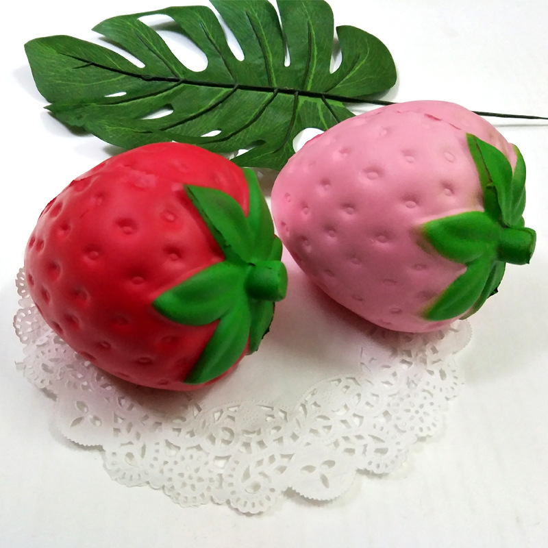 Strawberry Squishy Toy Antistress Toy Soft Slow Rising Jumbo Squeeze Toys For Kids Stres ...