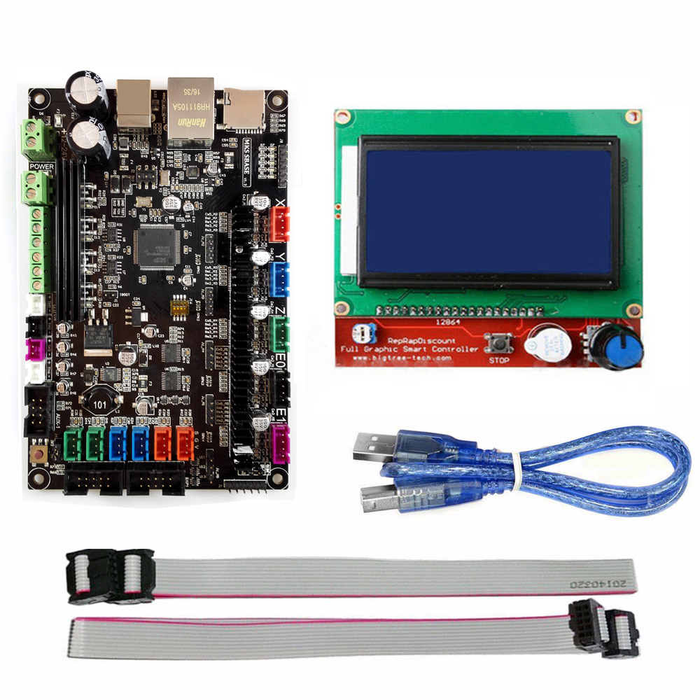 MKS SBASE V1 3 32bit Arm platform Smooth control board MCU LPC1768 with MKS 12864 LCD