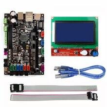 MKS SBASE V1.3 32bit Arm platformu ile Pürüzsüz kontrol kurulu MCU-LPC1768 MKS 12864 LCD Ekran Mavi Ekran Modülü