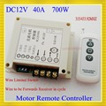 De alta Potencia 12 V DC 40A 700 W motor interruptor de control remoto inalámbrico puerta persiana eléctrica cortina de Control Remoto Hacia Adelante inversa