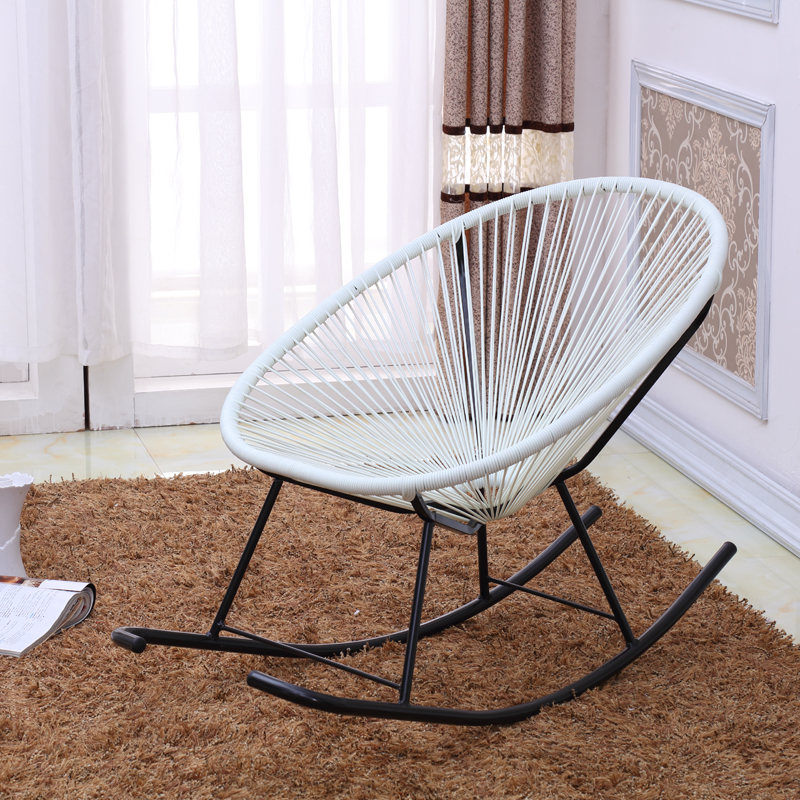 Modern Acapulco Indoor/Outdoor Adult Rocking Chair Furniture Woven Basket  Patio Benches Garden Chair Rattan Rocker Porch Seat In Beach Chairs From  Furniture ...