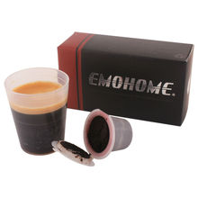 USE 300 times more | EM-03 Espresso refillable Coffee Capsule compatible nespresso machine system, 10pcs inside, not machine!