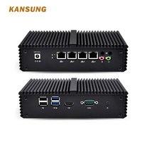 KANSUNG Core i7 5 го поколения мини ПК 4 LAN Aes ni компьютер pfSense Win 10 Intel x86 промышленный Настольный безвентиляторный NUC неттоп PC