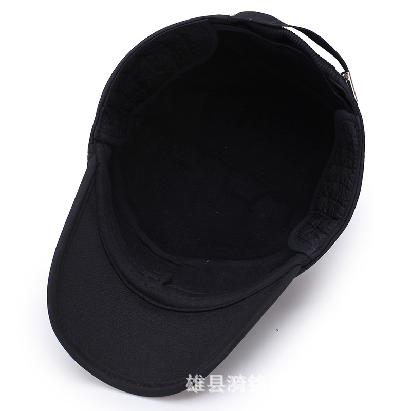Outdoor leisure warm baseball cap in the elderly autumn and winter padded ear guard old man цена и фото
