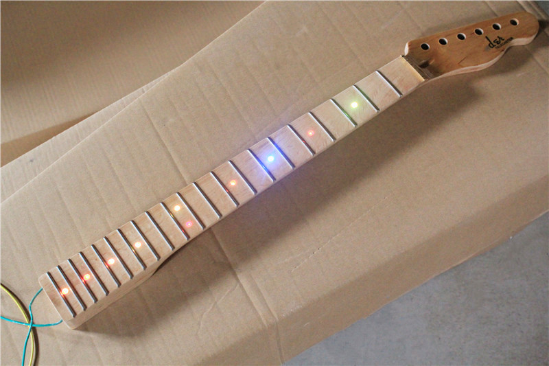 Electric guitar electric bass DIY semi-finished TL section neck maple fingerboard color LRED lamp tl style electric guitar diy kit map pattern veneer a grade beechwood body hard maple neck rosewood fingerboard set