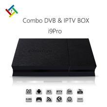 IPremium i9PRO Híbrido DVB Set Top Box apoyo Europa ENVÍO 12 meses de suscripción IPTV Canales Árabe IPTV Canales de Adultos