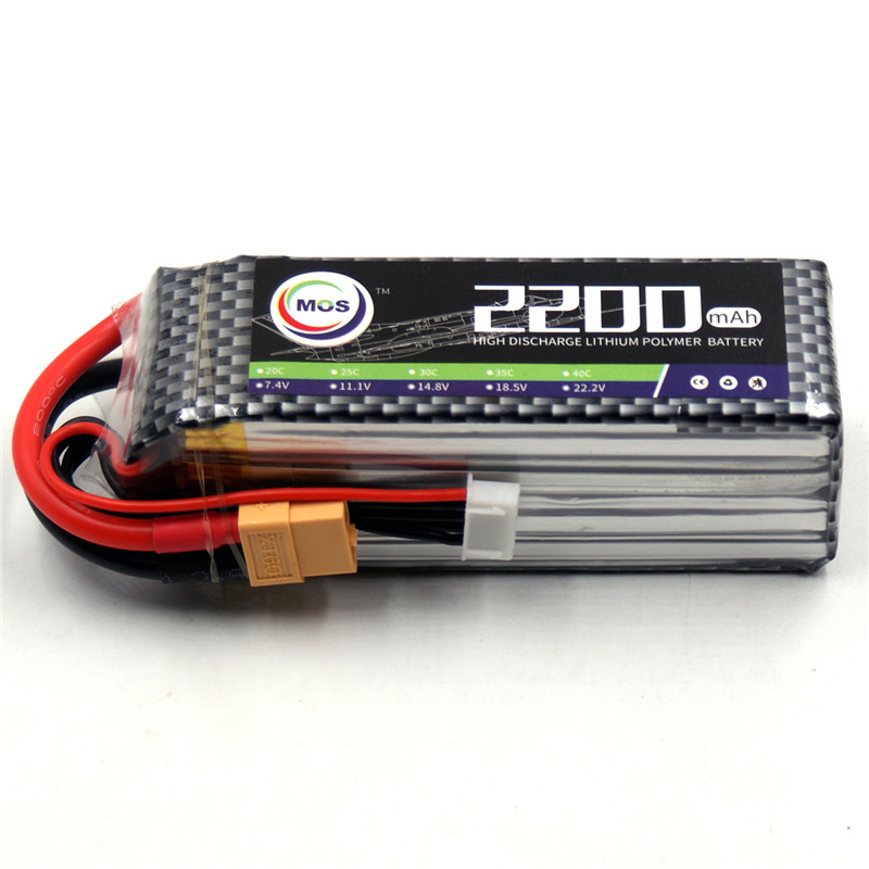 MOS 4S RC Lipo battery 14.8v 2200mAh 25C For RC helicopter car boat quadcopter Li-Polymer battey mos 2s lipo battery 7 4v 5000mah 30c for rc helicopter rc car rc boat quadcopter li polymer battey