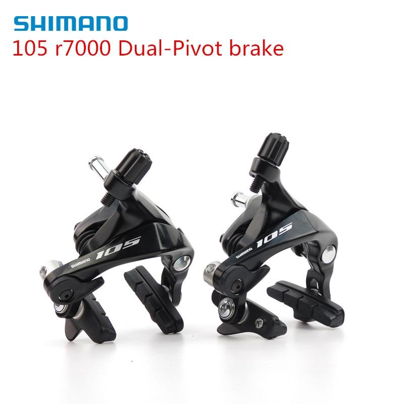 Купить с кэшбэком Shimano 105 R7000 Road Bike Dual-Pivot Front & Rear Brake Caliper