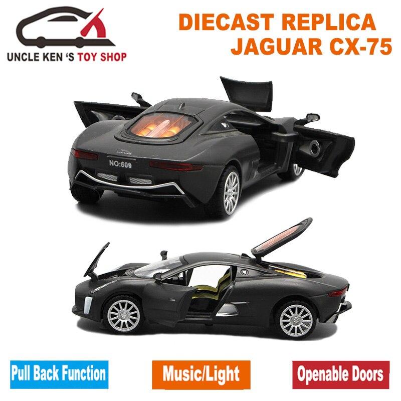 1/32 Μοντέλο Ζυγαριάς Diecast Jaguar CX-75, 15cm - Οχήματα παιχνιδιών - Φωτογραφία 6