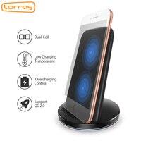 Torras Qi Cargador Inalámbrico 10 W, Cargador Rápido para el iphone 8 plus 8 5 V 2A de Carga del Muelle Del Soporte Para Samsung Galaxy S6 S7 S8 inalámbrica
