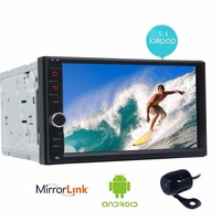 Double 2 Din Car DVD Player Android 5 1 Quad Core Touch Screen 2din Autoradio 1024