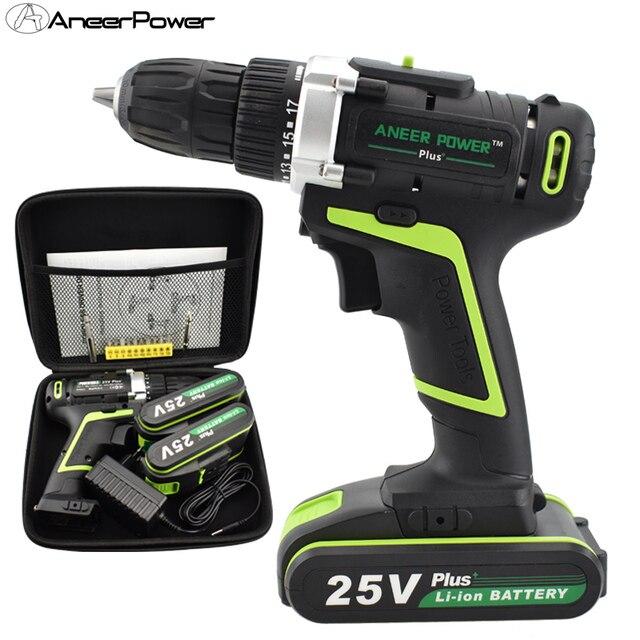 25 в плюс Мощность Мини дрель электрические батареи мини Drillling беспроводной отвёртки инструменты на батареях шуруповёрт бурильные долото ру...