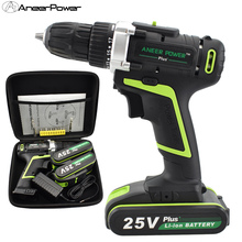 цена на 25v Plus cordless drill mini drill screwdriver power tools warsley wireless lithium drill power tools hand electric drill batter