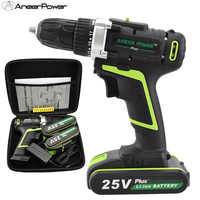 25v Plus cordless drill mini drill screwdriver power tools warsley wireless lithium drill power tools hand electric drill batter
