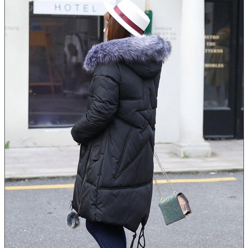 Tops Grande 140 4xl Femelle Black Manteau Veste Coton Parkas Femmes 8xl Taille Hiver Kg Porté Bas Peut Être Capuchon Épaississent Manteaux Vers Super À Le HwOq0