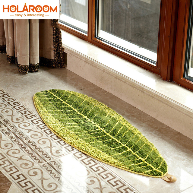 Hojas verdes diseño alfombrillas antideslizantes alfombras para sala ...