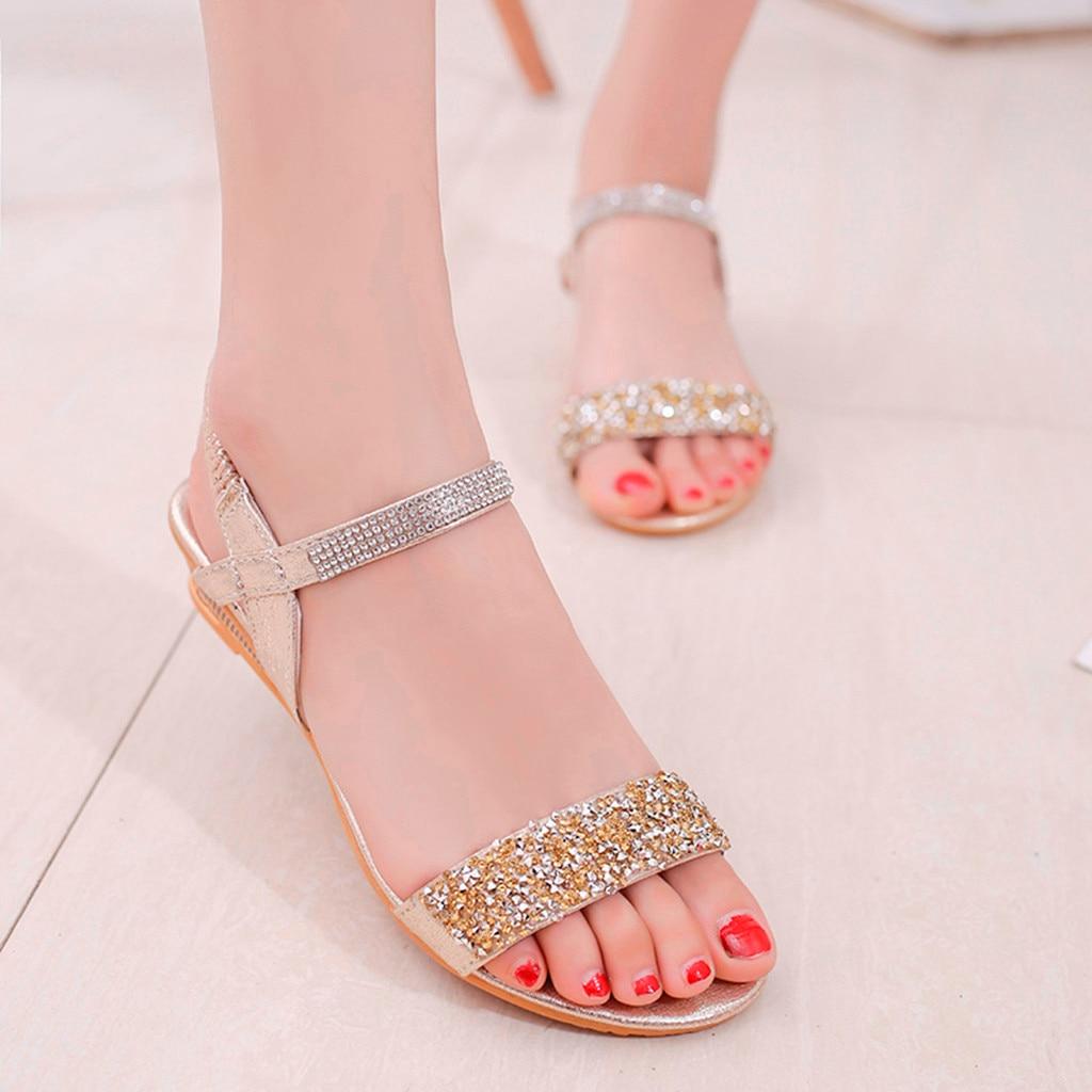 Women Summer Elastic Band Bling sandal