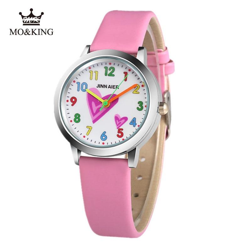 Fashion 3D Cartoon Children Watch Relogios Leisure Leather Movement Clock Boy Girl Birthday Gift Watch Saati I Love You Reloj