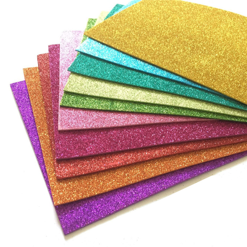 10pcs Sponge Paper Glitter Flash Gold Handcraft Foam Paper Sheets DIY Xmas Decoration
