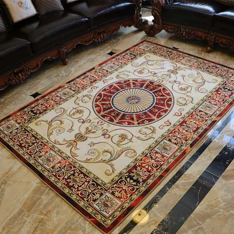Antique Spanish Savonnerie Rug Savonnerie Needle-point Hand-woven Wool Rug Folk Carpet For Carpets Living Room Ethnic Style