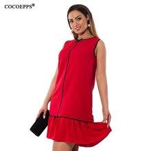 Модные Большие размеры Для женщин шифоновое мини платье Летний большой Размеры ниспадающей оборкой Лоскутные платья 2017 Изящный бант Vestidos 6XL