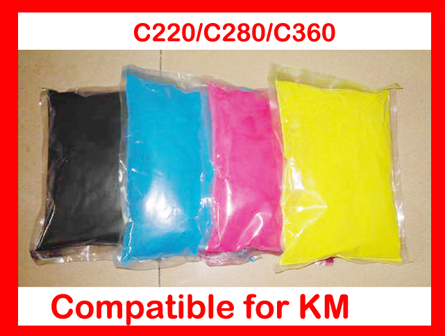 High quality color toner powder compatible for Konica Minolta Bizhub c220/c280/c360/220/280/360 Free Shipping DHL FEDEX