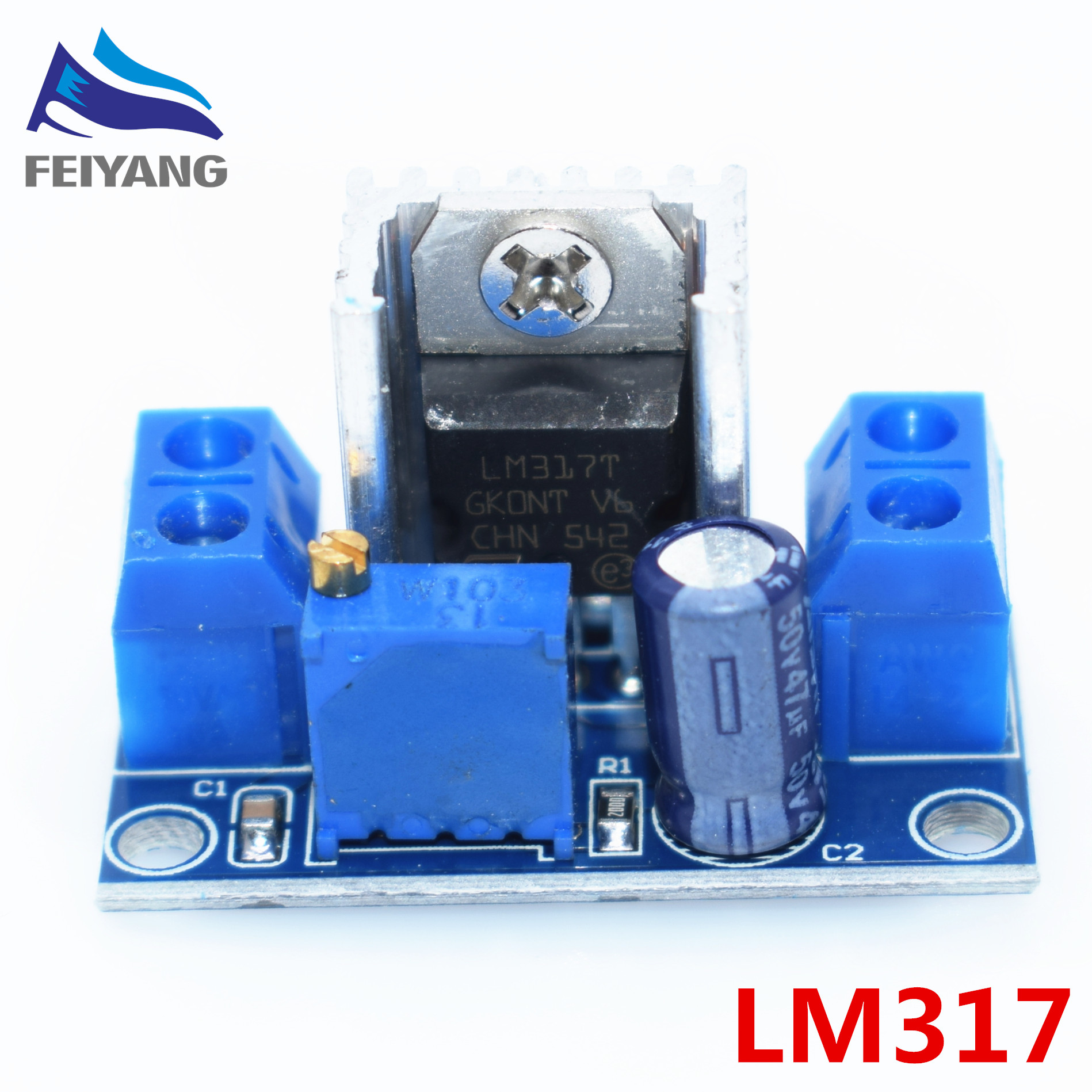 100pcs Lm317 Adjustable Voltage Regulator Power Supply Dc Converter Buck Step Down Circuit Board Module Linear In Integrated Circuits From