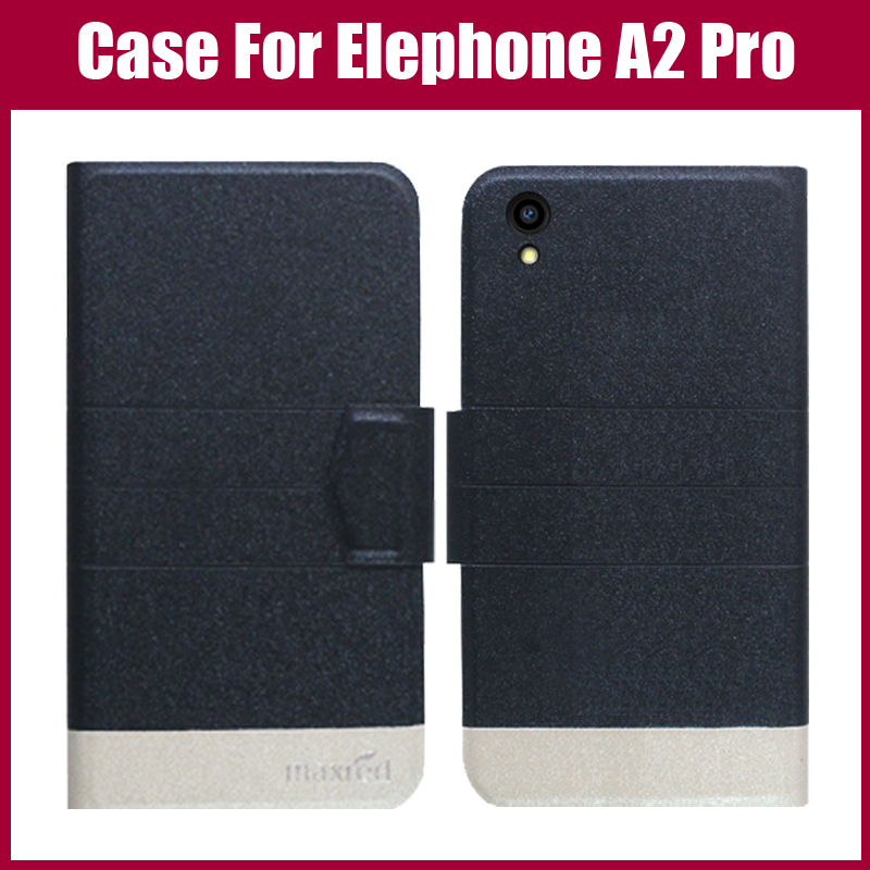 Hot Sale! Elephone A2 Pro Case New Arrival 5 Colors Fashion Flip Ultra-thin Leather Protective Cover For Elephone A2 Pro Case