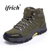 2018 Climbing Boots for Men Black Army Green Man Hiking Shoes High Top Trekking Boots Man Winter Warm Rubber Sole Sneakers 2017 new arrival hiking shoe for men high top hiking boots black brown mens army boots breathable trekking shoes mountain boots