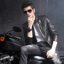 Ptslan Men Autumn Winter Genuine Leather Jacket Motorcycle Leather Jackets Male Business informal Coats Brand New clothes
