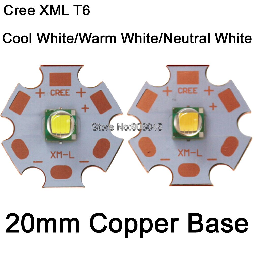 Home original cree xm l2 xml2 led emitter lamp light cold white - 10pcs Cree Xlamp Xml Xm L T6 10w High Power Led Light Emitter Diode