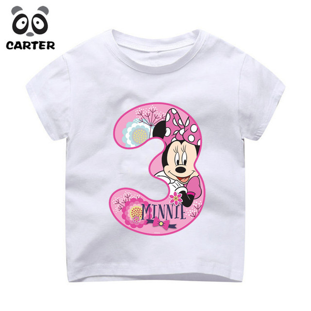 Children S Mouse Birthday Number 1 9th Cartoon Tshirt Boy And