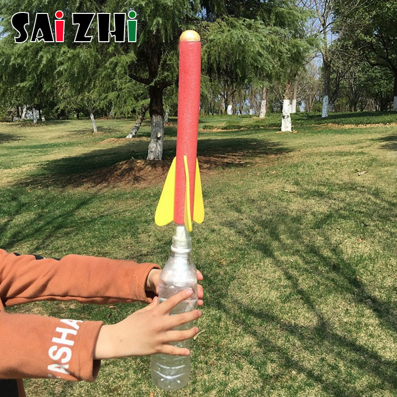 Saizhi Kids Scientific Toys Diy Science Educational Kits Rocket Launcher Toy Tutside Game Physics School Teaching Aids