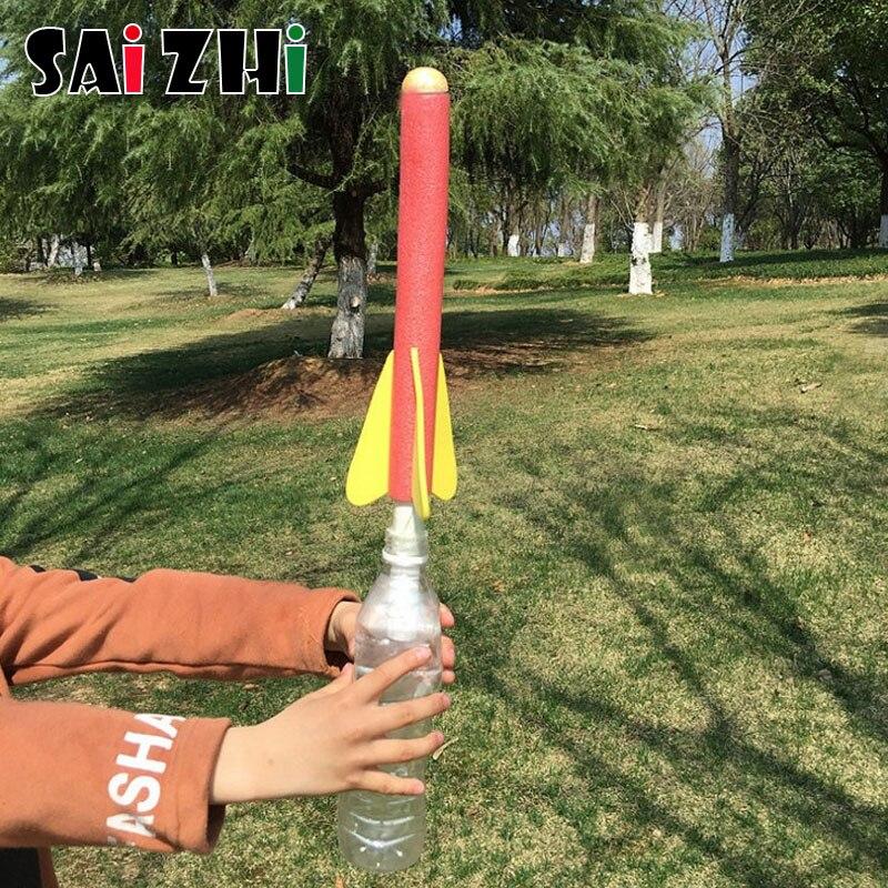 Saizhi, juguetes científicos para niños, Kits educativos de ciencia Diy, cohete de juguete lanzador, juego de Tutside, material didáctico para la escuela de Física| |   - AliExpress