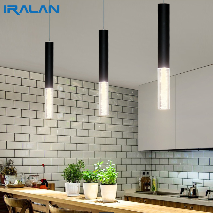 Pendant Lamp Lights Kitchen Island Dining Room Shop Bar Counter Decoration, Cylinder Pipe Pendant Lights Kitchen Lights