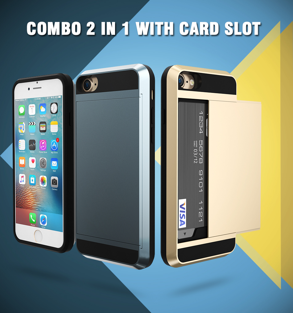 combo 2 in 1 case with card slot