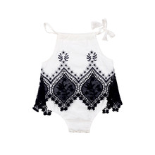 New 2019 Summer Infants Clothes Korean Style Lace Newborn Baby Bodysuit Soft Cute Kids Jumpsuits Sleeveless Toddlers Bodysuit(China)